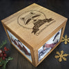 Personalised Large Oak Photo Keepsake Box - Christmas Woodland Raccoon - Personalised Gift Solutions - 1