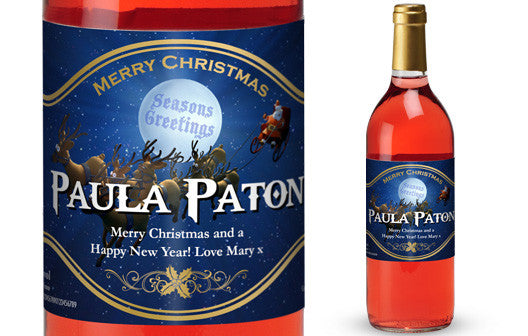 Personalised Christmas French Vin du France Rosé Wine Santa Label - Personalised Gift Solutions - 1