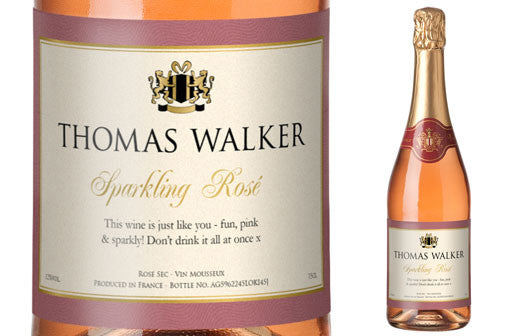 Personalised Sparkling Rose & Flutes Gift-pack for Birthdays - Personalised Gift Solutions - 2