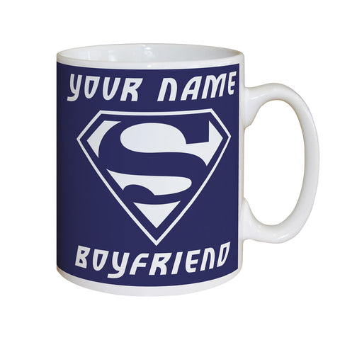 Personalised Super Boyfriend Mug