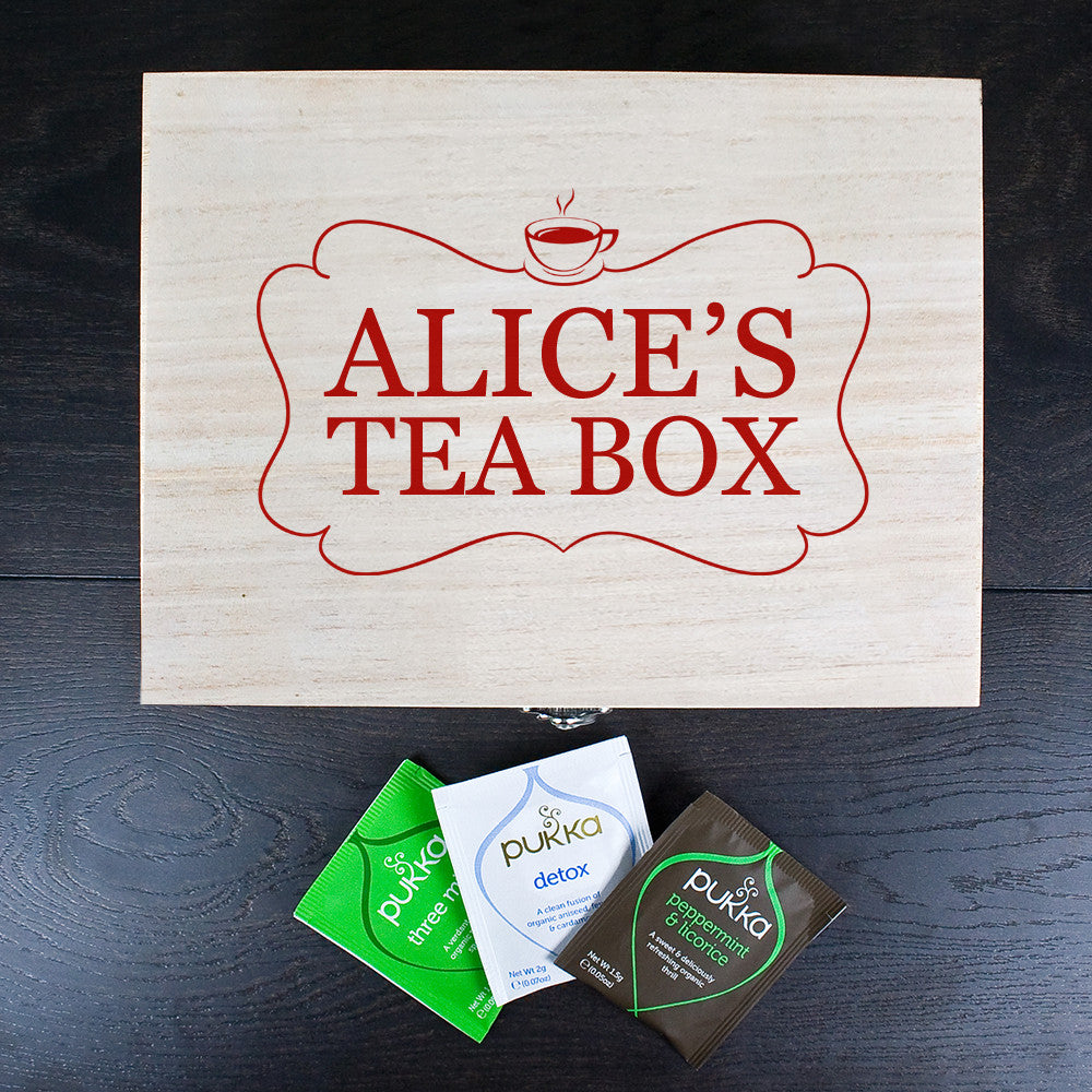 Personalised Tea Box Red - Personalised Gift Solutions - 2