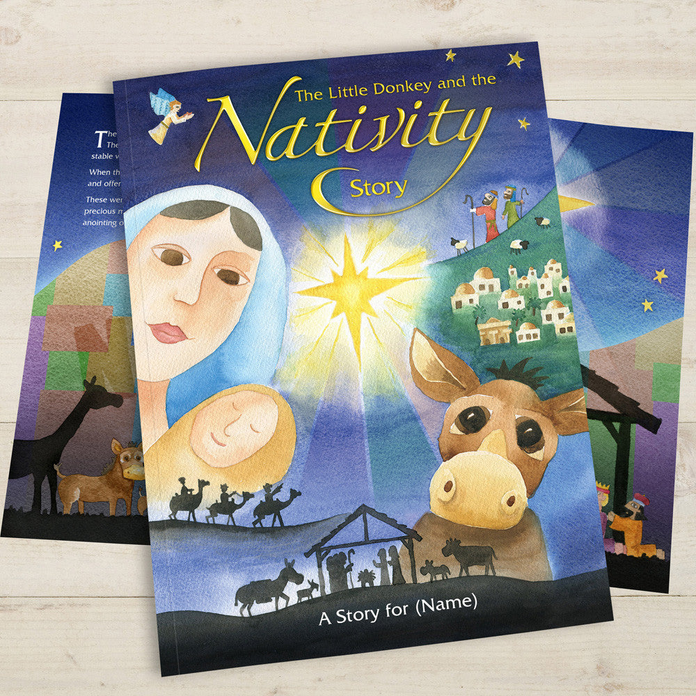 Personalised The Little Donkey and the Nativity Story Book - Personalised Gift Solutions - 1