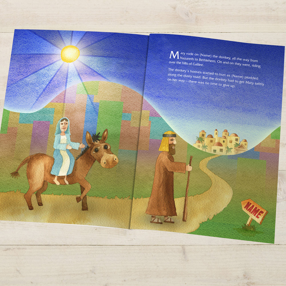 Personalised The Little Donkey and the Nativity Story Book - Personalised Gift Solutions - 2