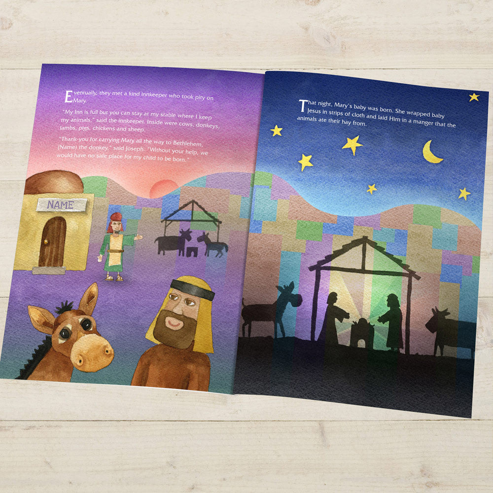 Personalised The Little Donkey and the Nativity Story Book - Personalised Gift Solutions - 3
