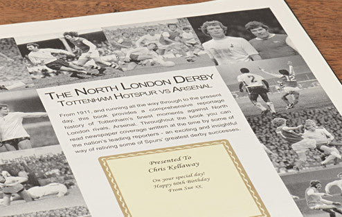 Personalised Spurs V Arsenal Derby Football Newspaper Book - Personalised Gift Solutions - 3
