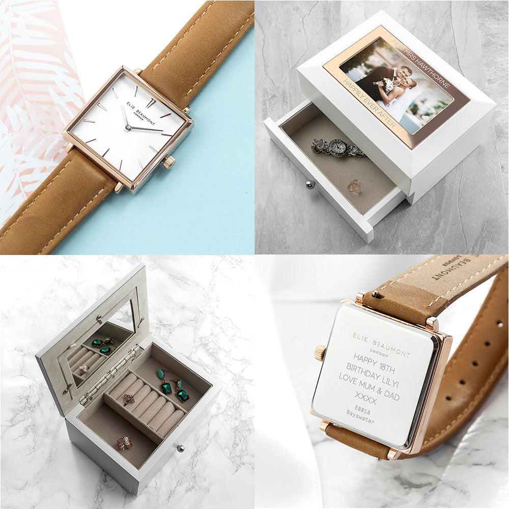 Elegant Ladies Watch and Jewellery Box  PGB Exclusive Gift Set