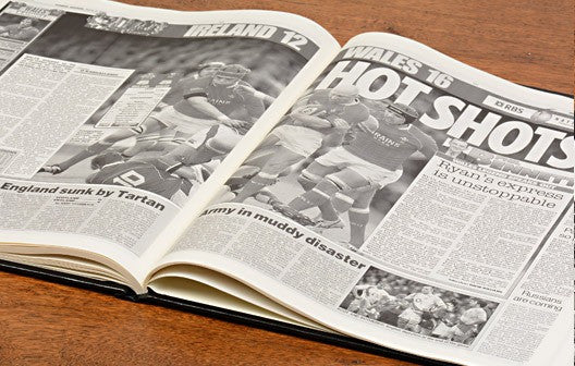 Personalised History of Welsh Rugby Newspaper Book - Personalised Gift Solutions - 5