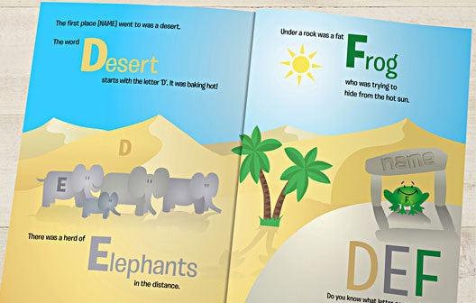 Personalised Alphabet World Book - Personalised Gift Solutions - 2