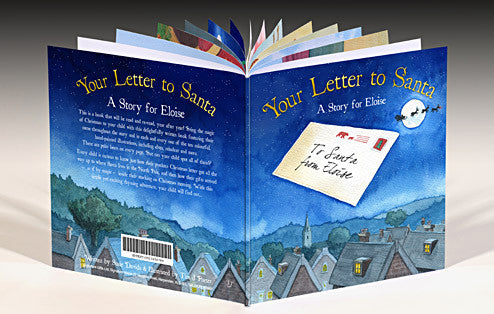 Personalised Your Letter to Santa Hardback book - Personalised Gift Solutions - 1