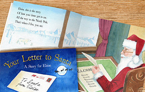 Personalised Your Letter to Santa Hardback book - Personalised Gift Solutions - 4