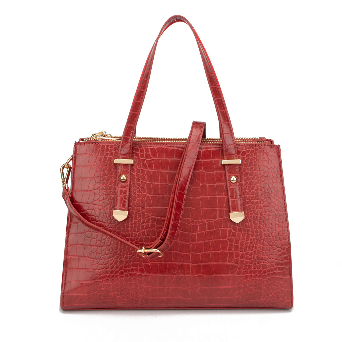 LYDC Large Shoulder Bag Croc Style with Top handles