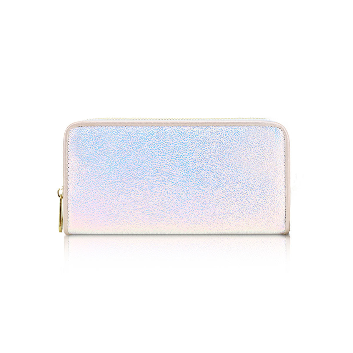 LYDC Ladies Single Zip Metallic Purse