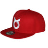 Classic Ring Snapback - White on Red