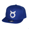 Classic Ring Snapback - White on Blue