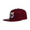 Classic Ring Snapback - Maroon/White