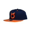 Classic Ring Snapback - Navy/Orange