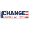 Change Starts With Me Bumpersticker - America Edition