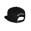Classic Ring Snapback - White on Black