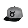 Classic Ring Snapback - Black on Gray