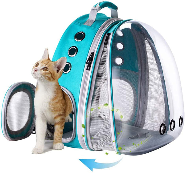 Front Expandable Large Cat Carrier Backpack, Space Capsule Pet Carrier Backpack for Fat Cats and Small Dog