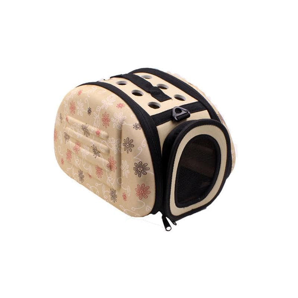 Foldable Pet Dog Cat Carrier Cage Collapsible Travel Kennel - Portable Pet Carrier Outdoor Shoulder Bag for Puppy Kitty