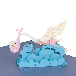 Stork Pop Up Card