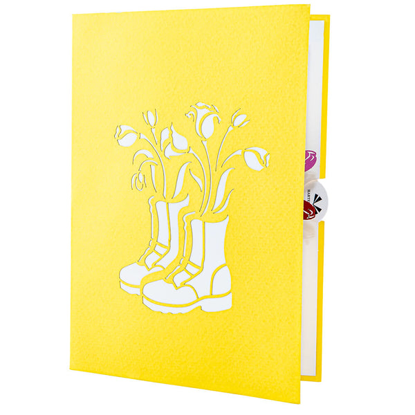 Shoes & Tulips Pop Up Card