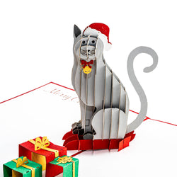 Christmas Cat Pop Up Card