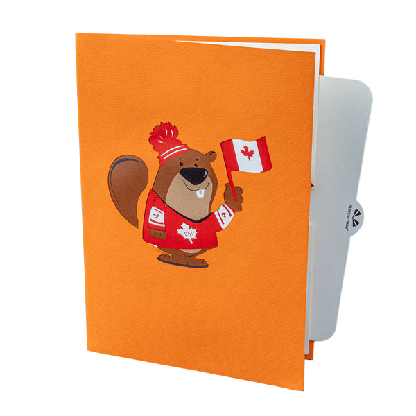 Canadian Beaver Pop Up Card