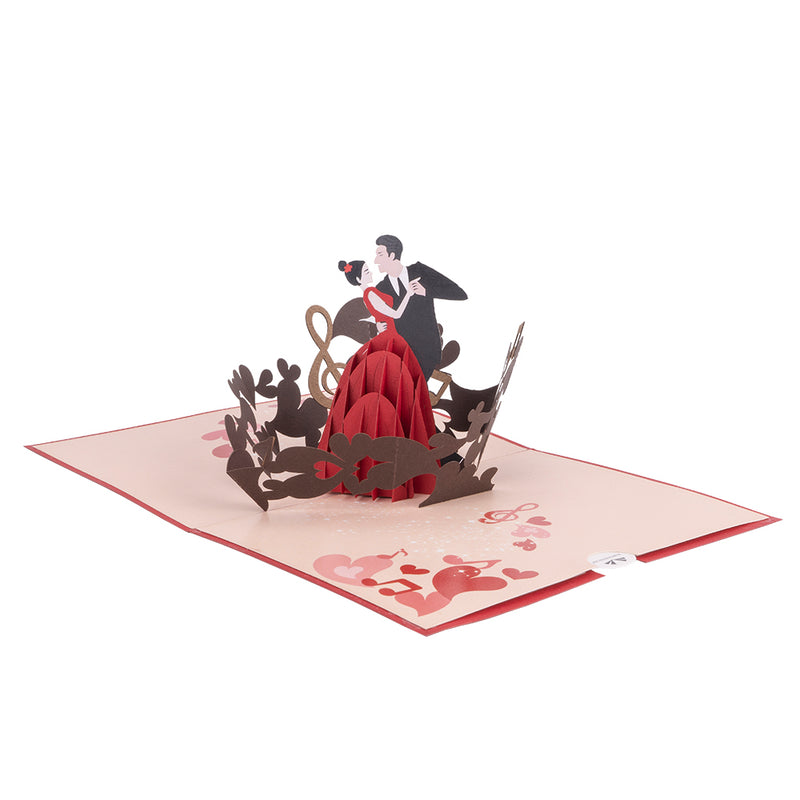 Dancing Couple Pop Up Card