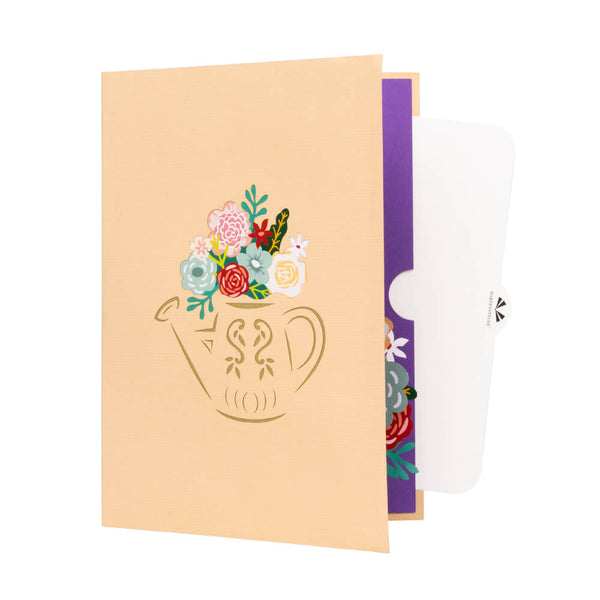 Floral & Watering Can Pop Up Card