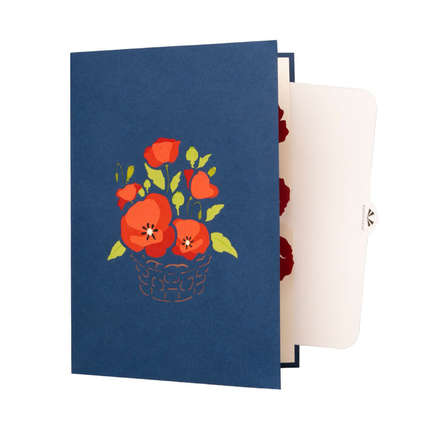 (Pre-order) Poppy Flower Pop Up Card