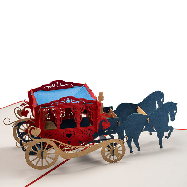 Magical Carriage Pop Up Card