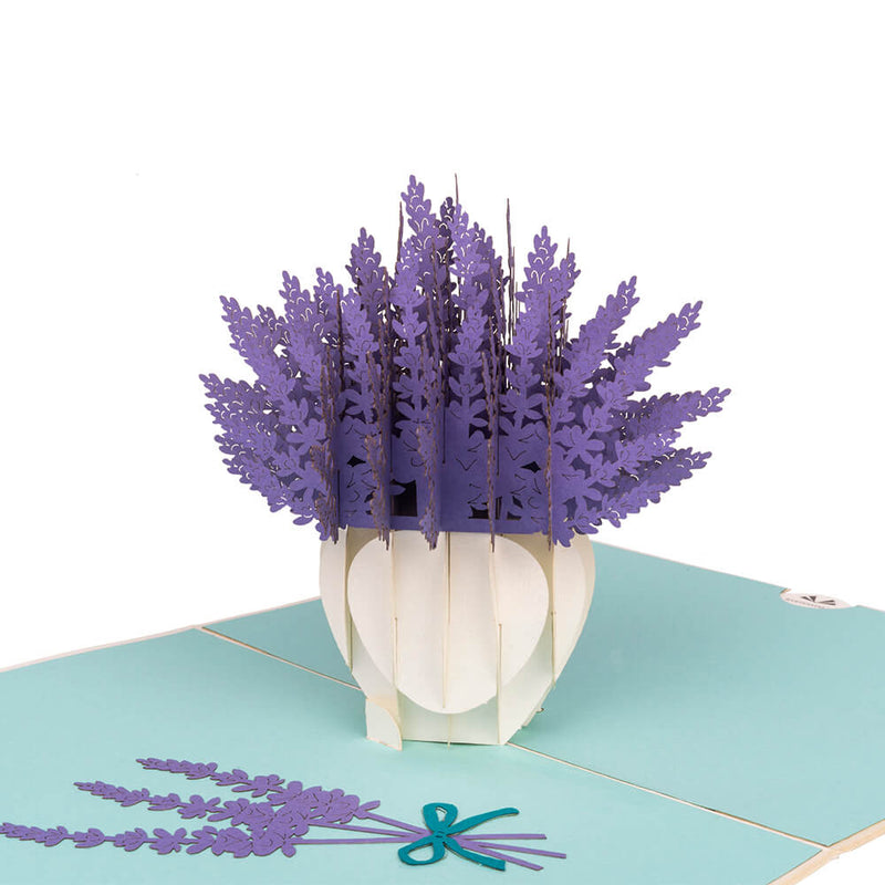 Lavendel Pop Up Card