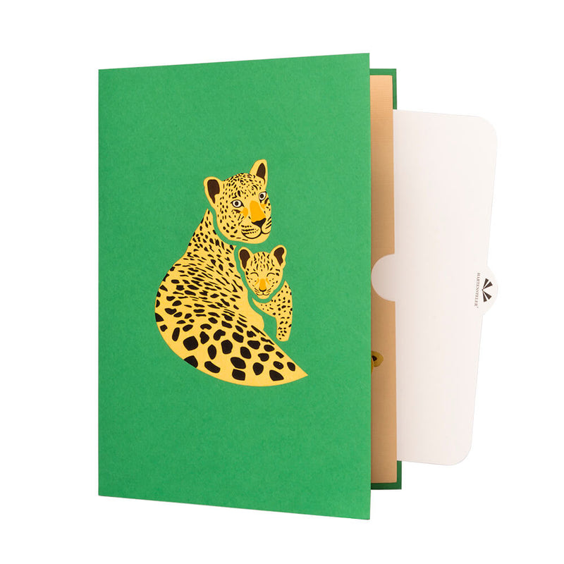 Leopard Pop Up Card