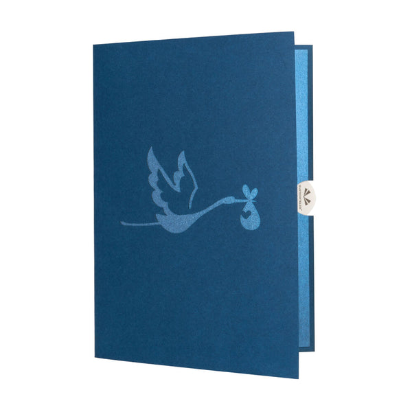 Blue Stork Pop Up Card