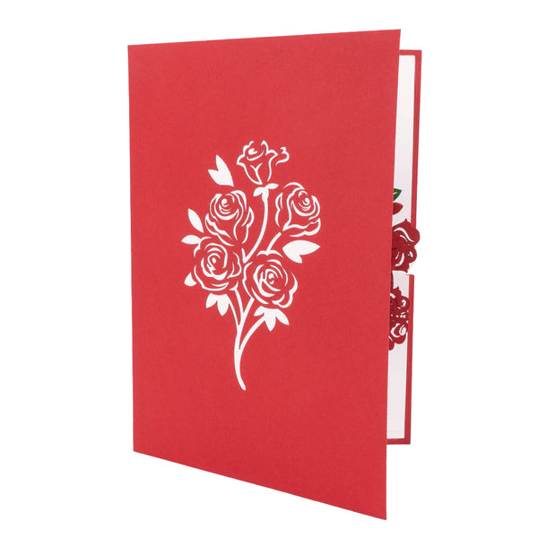 Rose Bouquet Pop Up Card