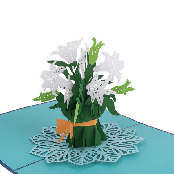 Lily Flower Pop Up Card