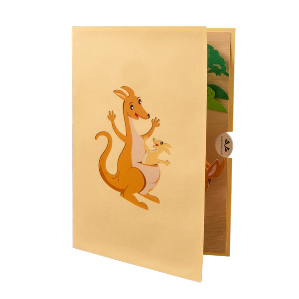 Kangaroo Pop Up Card