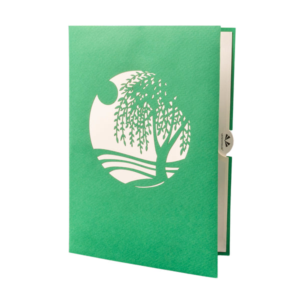 Green Willow Tree Pop Up Card