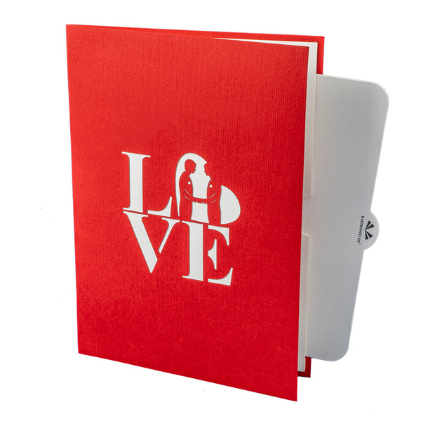 ♂♂ Wedding Couple Pop Up Card