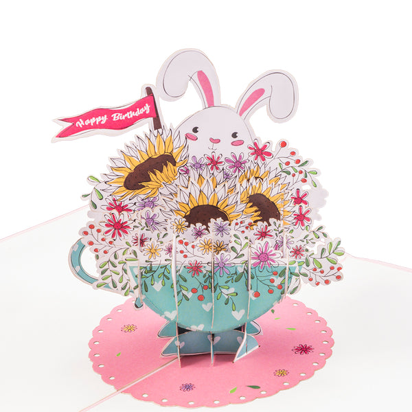 Birthday Bunny Pop Up Card