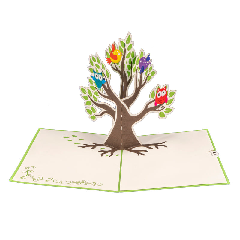 Tree with Birds Pop Up Card