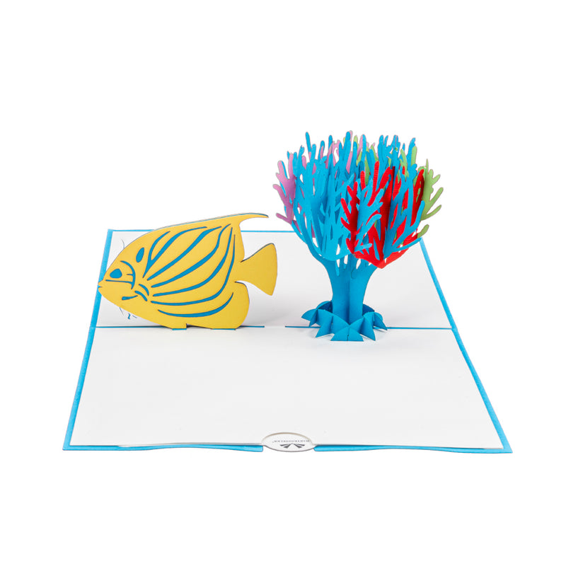 Fish & Coral Pop Up Card