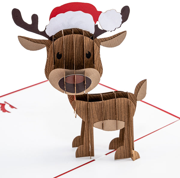 Christmas Reindeer Pop Up Card
