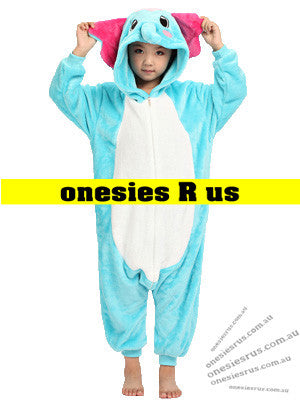 Kids Elephant Onesie (Blue)