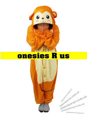 Kids Monkey (Orange) Onesie