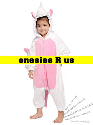 Kids Unicorn Onesie (Pink)
