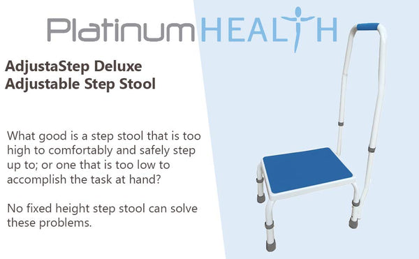 AdjustaStep Deluxe Step Stool With Handle