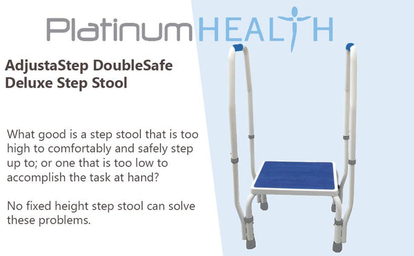 AdjustaStep Deluxe Step Stool With Dual Handle